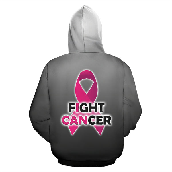 Fight Cancer All Over Hoodie