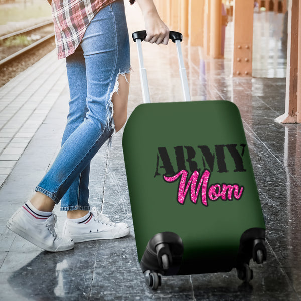 NP Army Mom Luggage Cover