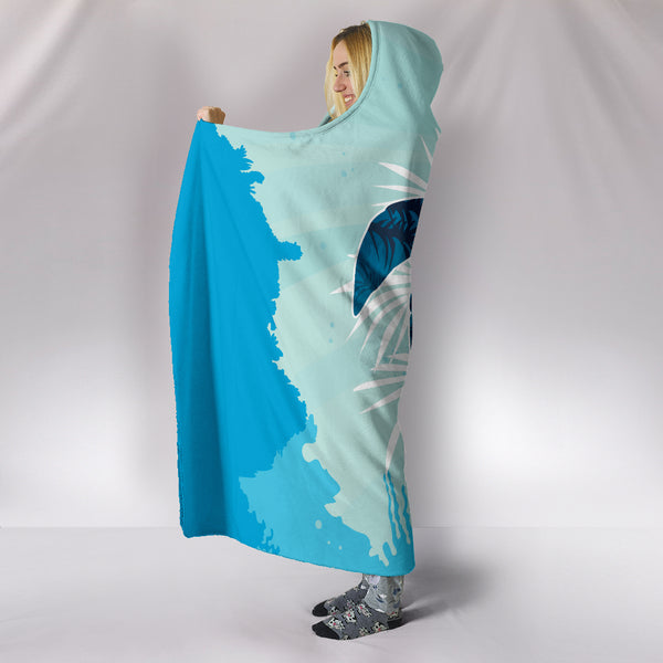 Custom Hoodie Blanket - Turtle Swimming