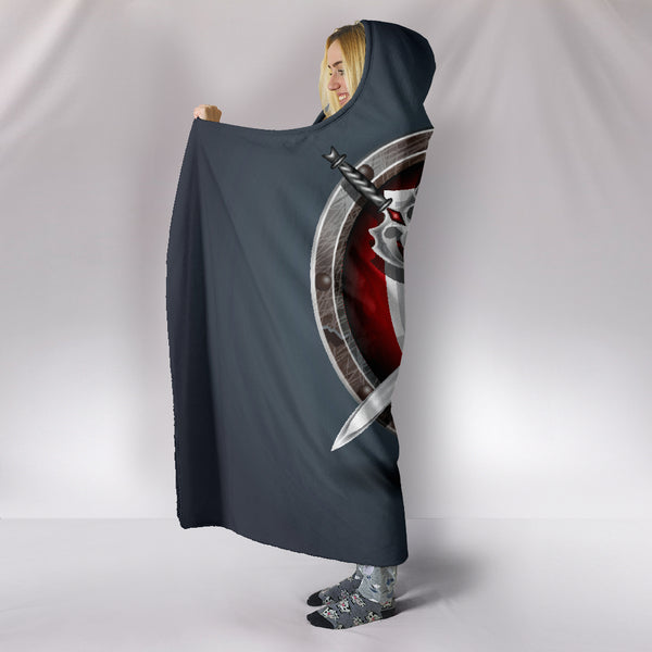 Wooden Shield Hooded Blanket
