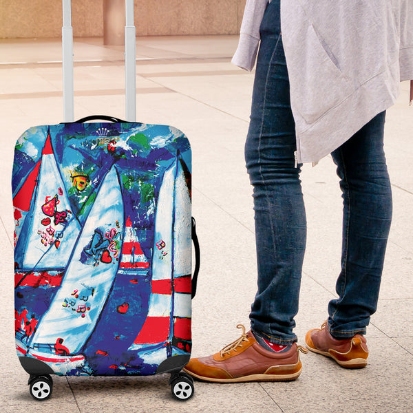 Sailboat picture Luggage cover