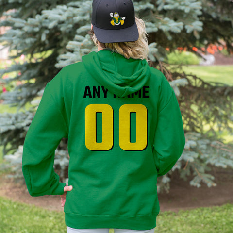 Team Pride Green and Yellow Adult Hoodie