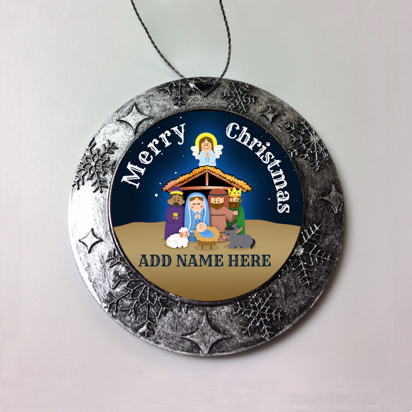 MANGER Personalized Christmas Ornament