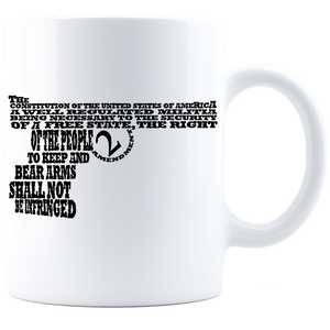 2ND AMENDMENT WORD ART  Coffee Mug - White