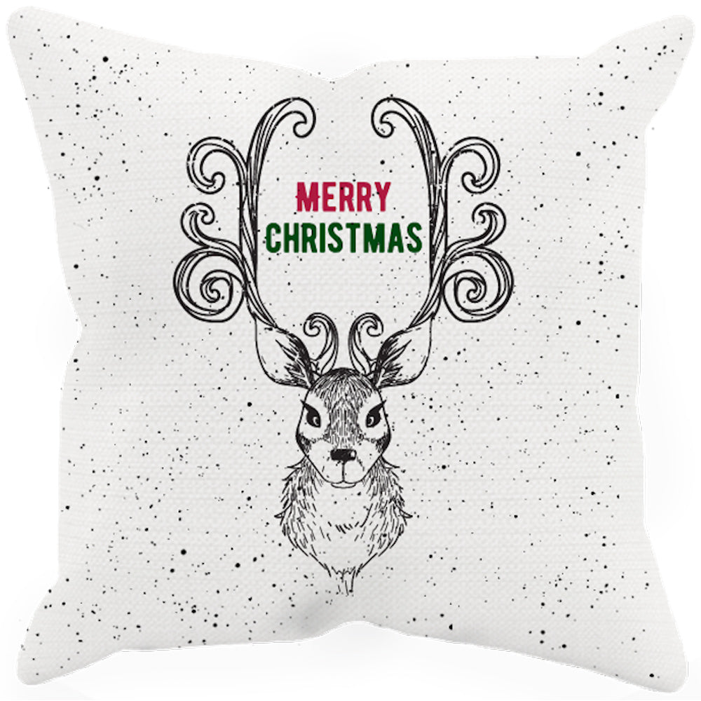 Merry Christmas Deer Sublimated Pillow Case