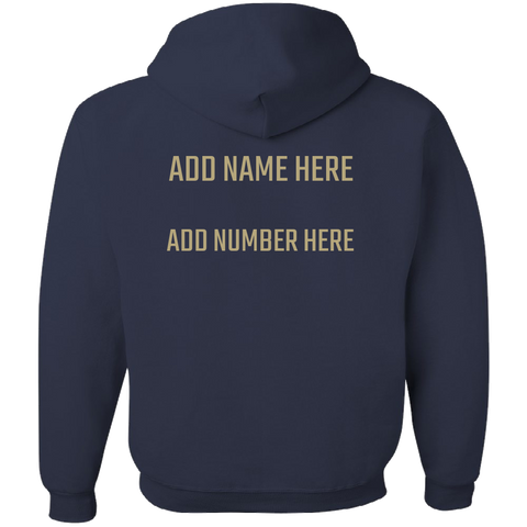 NAVY AND GOLD Team Color Adult Hoodie With PERSONALIZATION