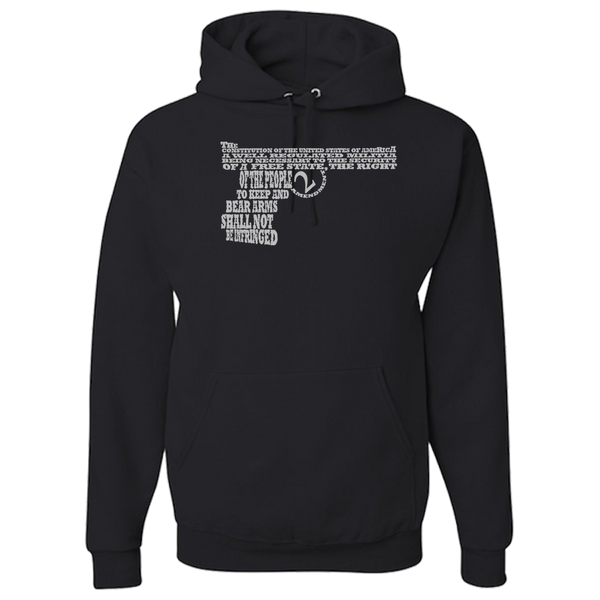 2nd Amendment  Word Art Adult Hoodie