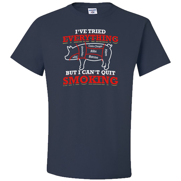 BBQ Lover: I CAN'T QUIT SMOKING Adult Unisex T-Shirt