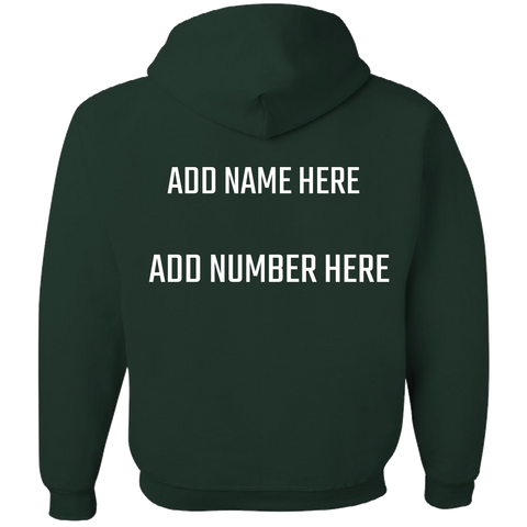 GREEN AND WHITE Team Color Adult Hoodie With PERSONALIZATION