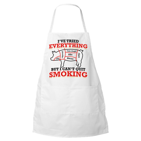 BBQ Lover I Can;t Quit Smoking Apron