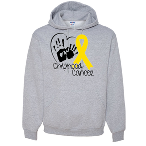 CHILDHOOD CANCER AWARENESS Adult Hoodie