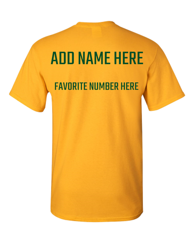 Team Pride Green Gold and White Adult Unisex T-Shirts