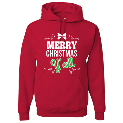 Merry Christmas Red Adult Hoodie