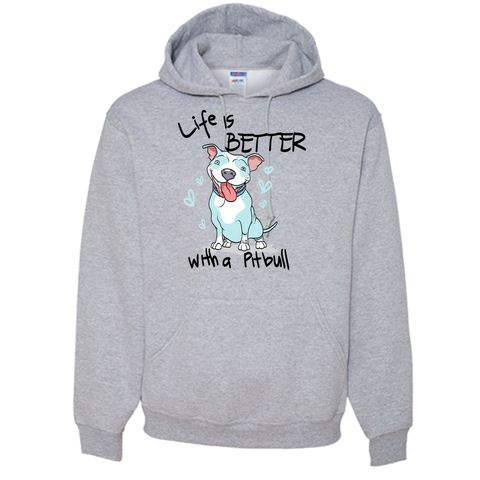 Life is Better With a PIT BULL Adult Hoodie