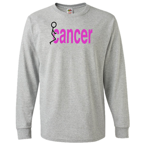 Fuck Cancer (Pink version) Adult Long Sleeve Tee