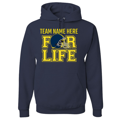 TEAM FOR LIFE : BLUE and YELLOW Adult Hoodie