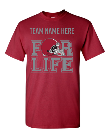 Team for Life : CRIMSON  and WHITE Adult Unisex T-Shirt
