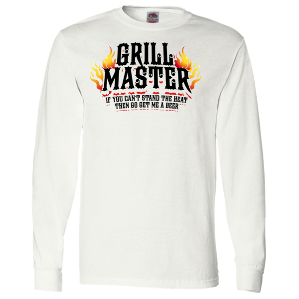 Grill Master If You Can't take the Heat  Adult Long Sleeve Tee