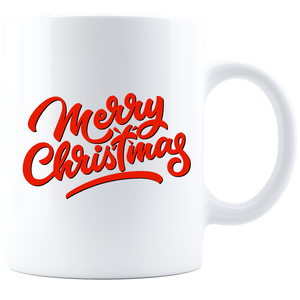 Merry Christmas White Coffee Mug
