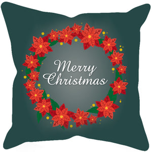 Wreath Merry Christmas Sublimated Pillow Case