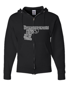 2nd AMENDMENT WORD ART Adult Zipper Hoodie
