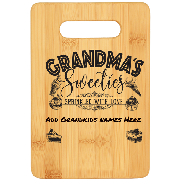 Grandma's Sweeties Personalized Cutting Board - Bamboo Laser Engraved