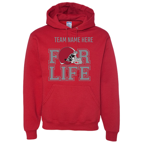 TEAM FOR LIFE : CRIMSON & GREY Adult Hoodie