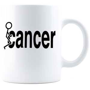 Fuck Cancer Coffee Mug - White
