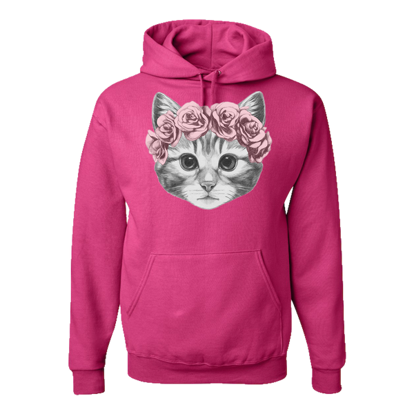 Cat with Crown Adult Hoodie