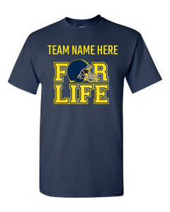 TEAM FOR LIFE :BLUE AND YELLOW Adult Unisex T-Shirt