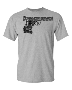 2nd Amendment Word Art Adult Unisex T-Shirt