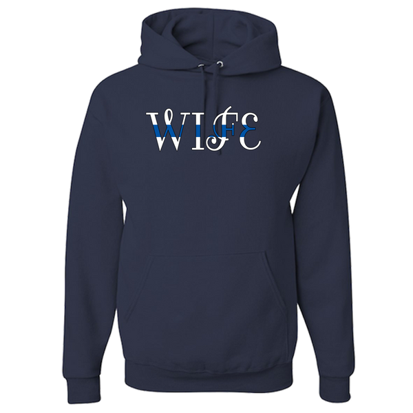 Thin Blue Line Wife Blue lives matter Officers Wife Sheriff wife state Police Wife Hoodie