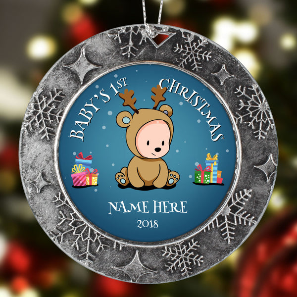 Baby Boys First Christmas Personalized Christmas Ornament