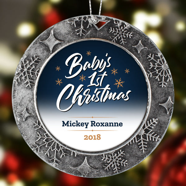 BABYS 1ST CHRISTMAS Personalized Christmas Ornament