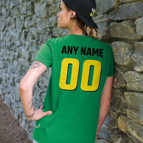 Team Pride Green and Yellow Adult Unisex T-Shirts