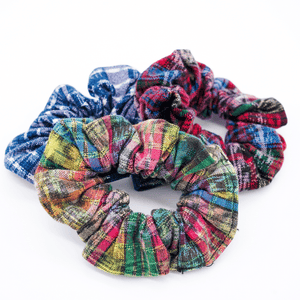 Zero Waste Scrunchie in Rainbow
