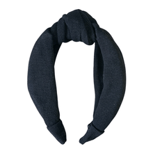 Load image into Gallery viewer, Black Textile Headband (Pre-Order)