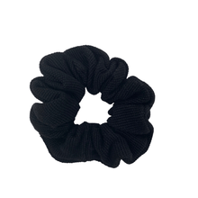 Load image into Gallery viewer, Charcoal Black Woven Scrunchie