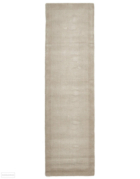 Timeless Loop Wool Pile Bone Coloured Rug - 300x80cm