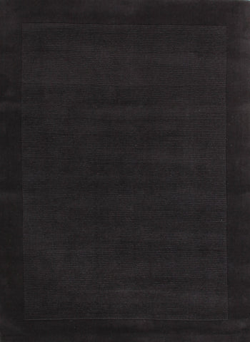 Timeless Loop Wool Pile Charcoal Coloured Rug - 165x115cm