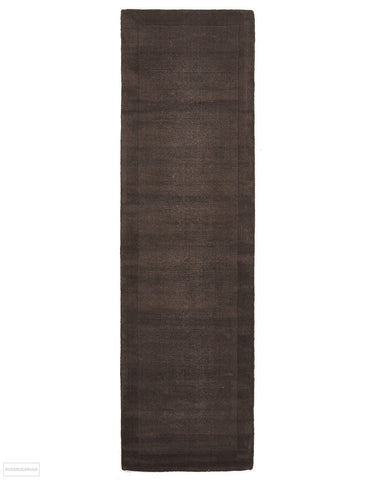 Timeless Loop Wool Pile Chocolate Coloured Runner Rug