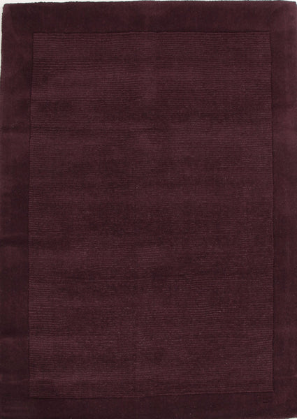 Timeless Loop Wool Pile Eggplant Coloured Rug - 165x115cm