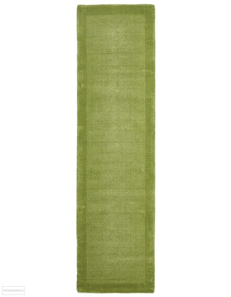 Timeless Loop Wool Pile Pistachio Coloured Rug - 300x80cm