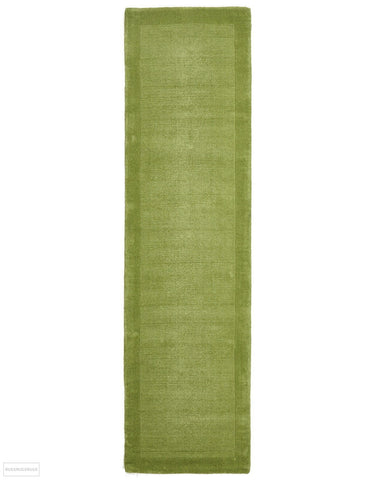 Timeless Loop Wool Pile Pistachio Coloured Runner Rug