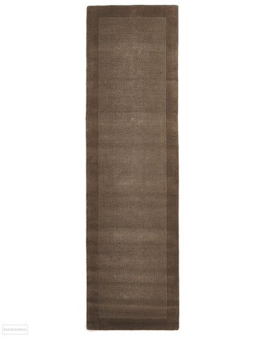 Timeless Loop Wool Pile Taupe Coloured Runner Rug