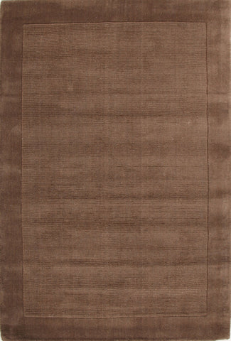 Timeless Loop Wool Pile Taupe Coloured Rug - 165x115cm