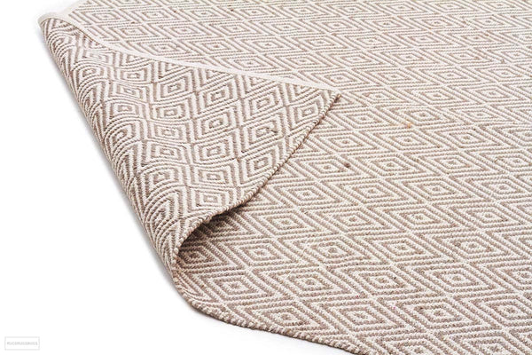 Habitat Diamond Pattern Rug - Grey - FLATWEAVE