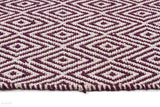 Habitat Diamond Pattern Rug - Purple - FLATWEAVE