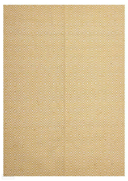 Habitat Diamond Pattern Rug - Yellow - FLATWEAVE