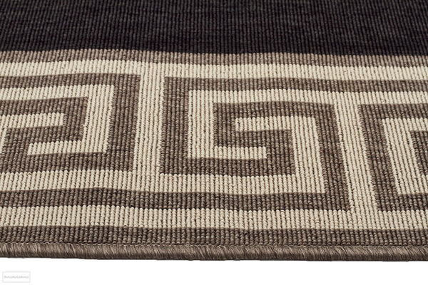 Alfresco Indoor Outdoor Collection 6508 Charcoal Rug